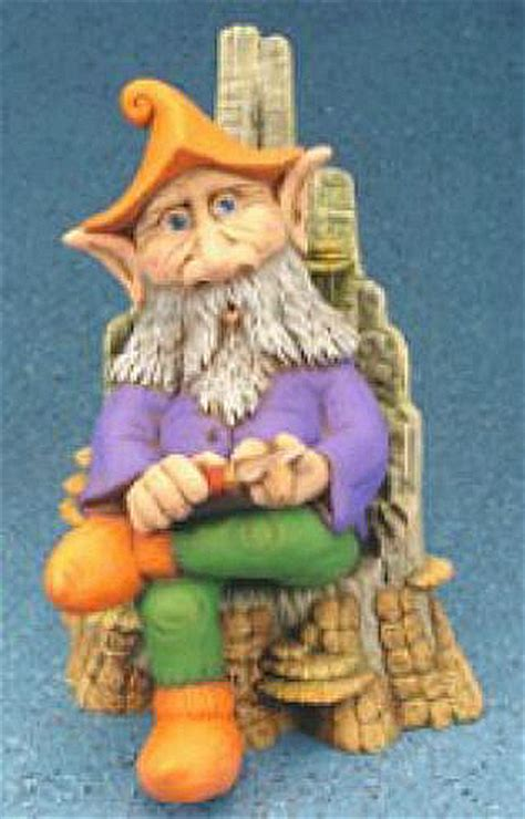 whittler forest gnome  whittling knife ceramic garden
