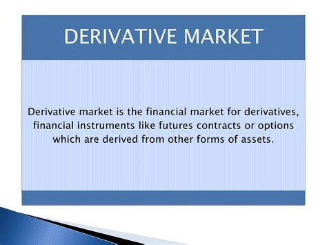 Types Of Mba Finance by Types Of Financial Markets Powerpoint Slides