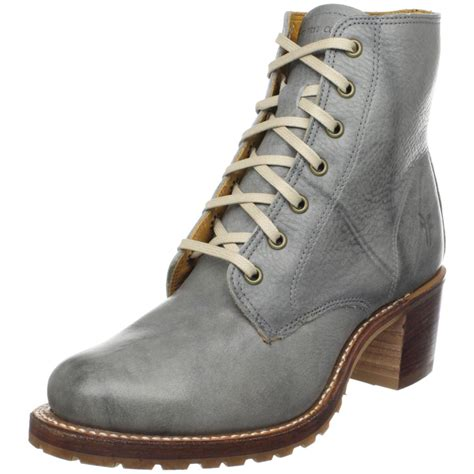 gray boots womens frye frye womens lace up boot in gray grey lyst