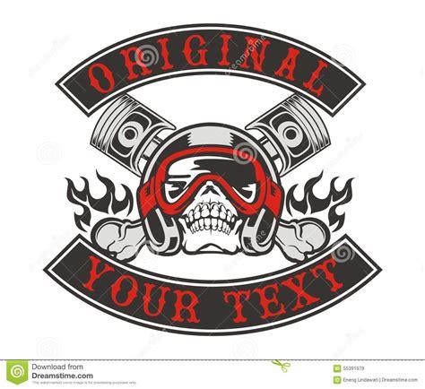 skull helmet piston stock illustration image 55391979