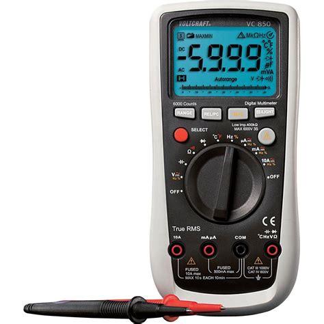 Multimeter Digital handheld multimeter digital voltcraft vc850 calibrated to iso standards cat iii 1000 v cat iv