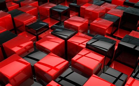 wallpaper 3d red 3d red and black blocks hd wallpaper hd latest wallpapers