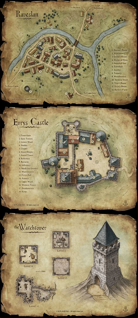 How To Make An Rpg On Paper - set of maps by maximeplasse on deviantart
