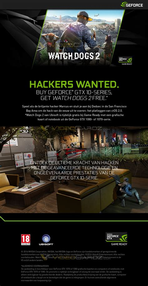 Watch Dogs 2 Pc Giveaway - nvidia ubisoft give away watch dogs 2 if you buy gtx1080 gtx 1070 cards or systems