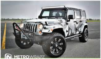 Wrapped Jeep Metro Wrapz Shows Camo Wrapped Jeep Wranglers