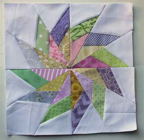 pastel quilt pattern paper pieced scrap star block