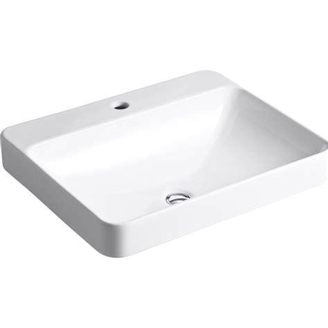 rectangle drop in vanity sink kohler vox white drop in rectangular bathroom sink with