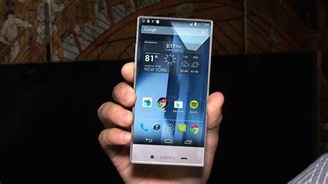 Tv Sharp Aqua sharp aquos a 5 inch smartphone with an edge to edge display cnet