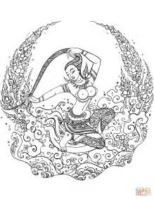 mother earth coloring page mother earth phra mae thorani coloring page free