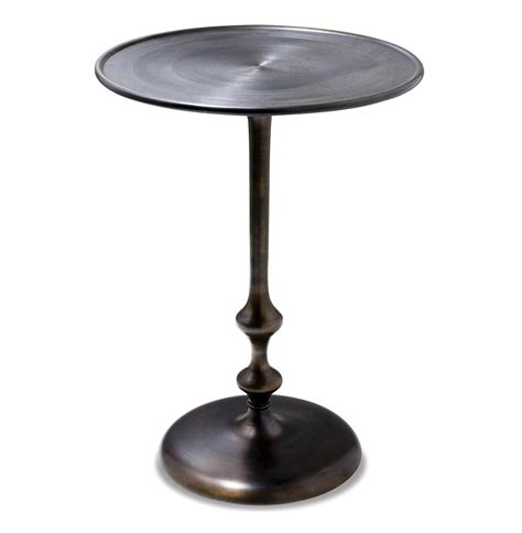 modern brass table abydos modern rustic turned metal side table kathy kuo home