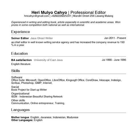 cara membuat resume yang lengkap contoh membuat daftar riwayat hidup via email gambar con