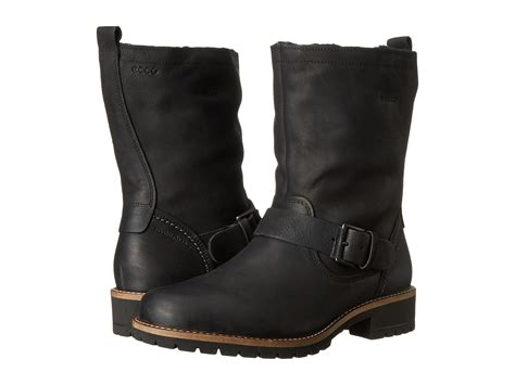 zappos womens boots ecco elaine buckle boot black zappos free shipping