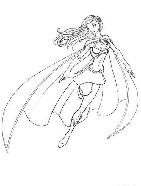 superwoman coloring coloring pages