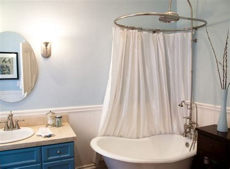 clawfoot tub shower curtain solution 17 best ideas about clawfoot tub shower on pinterest