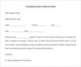 Dr Notes For Work Template by 22 Doctors Note Templates Free Sle Exle Format