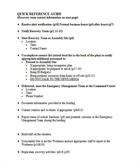 business resumption plan template 25 plan template word excel pdf free premium