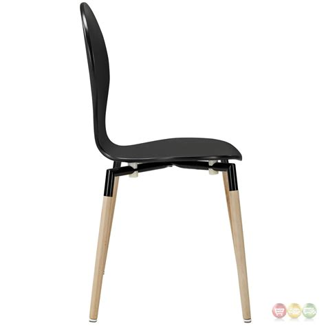 Path Stylish Contemporary Wood Dining Side Chair Black Contemporary Black Dining Chairs