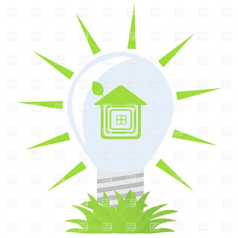 ecology symbol green light bulb vector image 21724