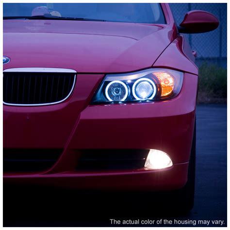 bmw e90 headlights 06 08 bmw 3 series e90 4dr angel eye halo led projector
