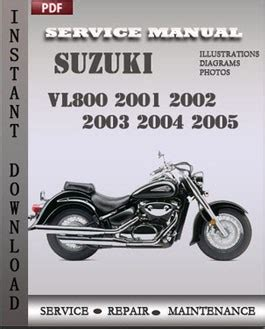 Suzuki Vl800 2003 2005 Free Download Pdf Repair Service