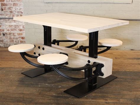 Swing Out - vintage industrial cafeteria swing out seat kitchen
