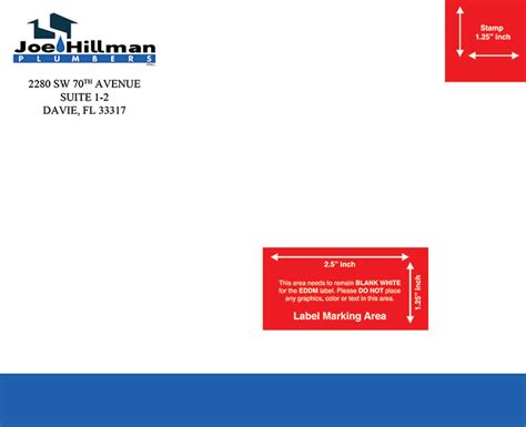 Hillman Plumbing by Eddm Every Door Direct Mail Design Printing In Florida