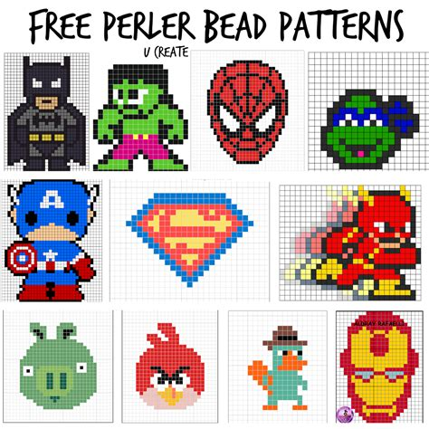bead pattern ideas free perler bead patterns boy themes u createcrafts com