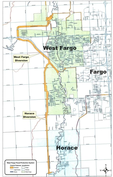 map of fargo nd sheyenne diversion west fargo nd