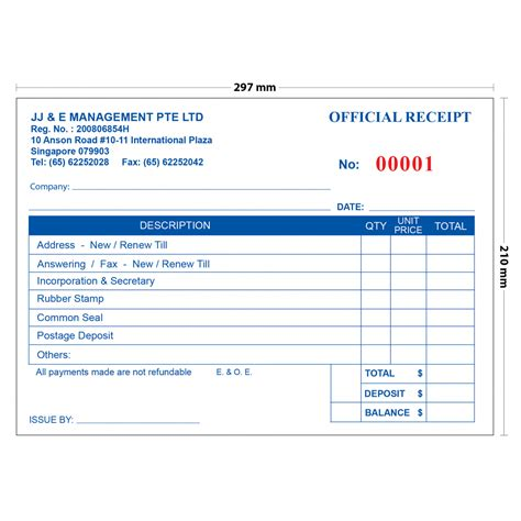 invoice book template jj e invoice receipt book a4 50 books