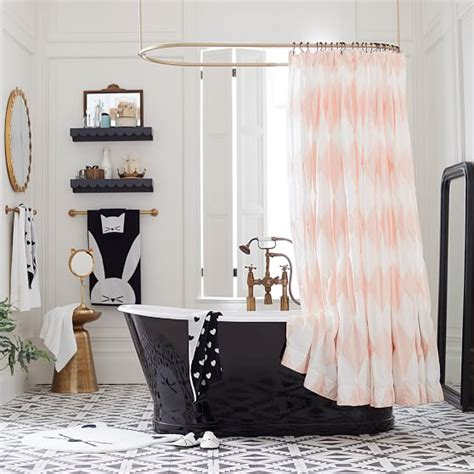 harlequin shower curtain the emily meritt harlequin pintuck shower curtain pbteen