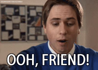 Inbetweeners Friend Meme - four people at a party you re with your friend
