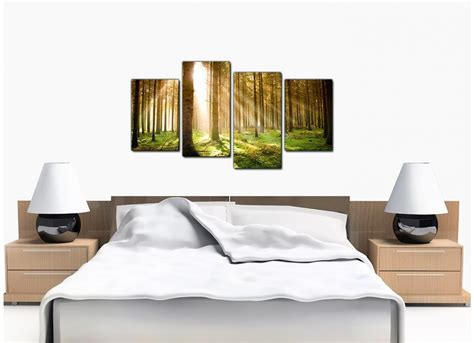 bedroom canvas art cheap trees canvas prints 4 panel