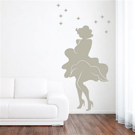 wall stickers marilyn marilyn white dress wall decal