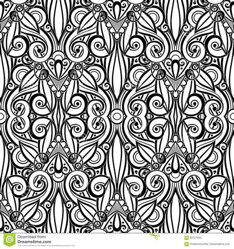 tribal pattern doodles vector black seamless tribal pattern in doodle style