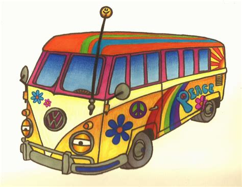 pego car seat hippie volkswagen drawing 28 images painted vw hippy