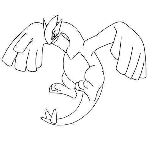 pokemon mega lugia free colouring pages