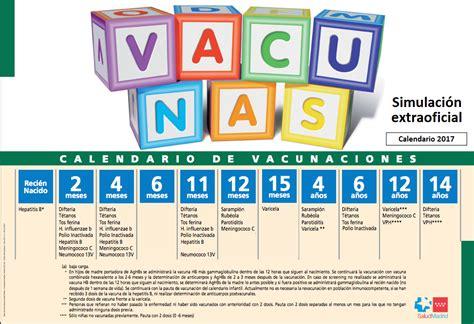 Calendario Vacunacion 2017 Adelanto Calendario De Vacunaci 243 N Infantil 2017 Ap