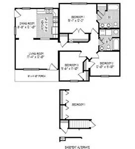 2 bedroom cabin floor plans 43 x32 3 bedroom 2 baths cabin floor plans pinterest
