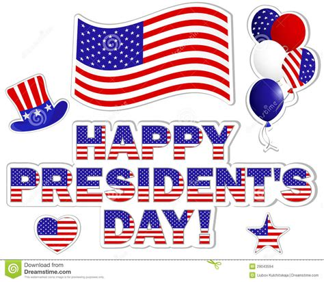presidents day is a time presidents day stickers stock images image 29043594