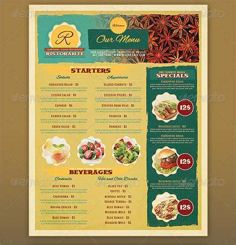 free printable restaurant menu templates printable restaurant menus related keywords printable