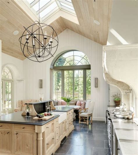 modern wood kitchen design dream kitchens pinterest sufit katedralny w domu czyli podwyższony salon