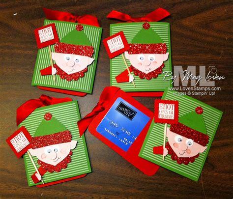Elf Gift Card - elf on the shelf punch art for gift cards lovensts