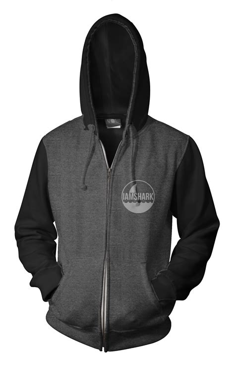 Tendencies Navy Two Tone Zipphood black grey hoodie fashion ql