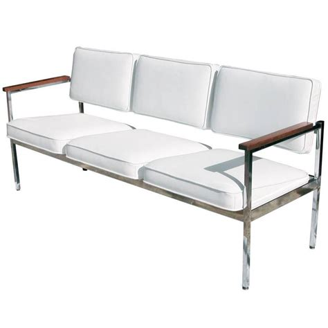 steel sofa set designs vintage mid century steel case three seat sofa for sale at