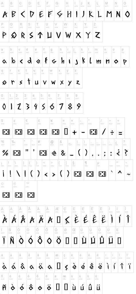 dafont runes acadian runes dafont com