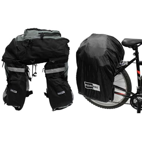 bicycle waterproofs pedalpro bike bicycle large rear touring pannier rucksack