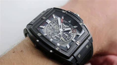 Hublot Senna 88 Black Leather hublot spirit of big black magic ref 601 ci 0173 rx
