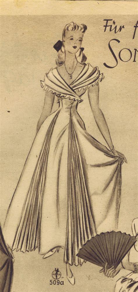 vintage gown pattern free vintage 1940s sewing patterns german die alma mode