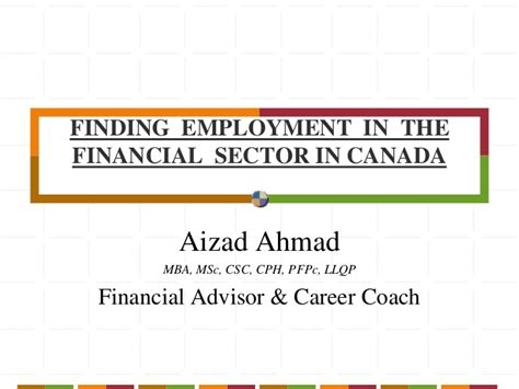 Finding In Canada Linkedin Finding Employment In The Financial Sector In Canada
