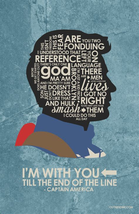 captain america quote wallpaper captain america inspired quote poster by outnerdme on